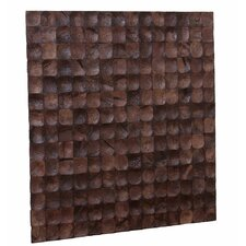 "Kelapa 16.54"" x 16.54"" Coconut Shell Mosaic Tile in Brown Bliss"