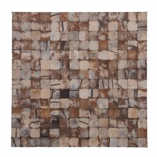 "Kelapa 16.54"" x 16.54"" Coconut Shell Mosaic Tile in Pure Bliss"