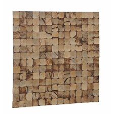 "Kelapa 16.54"" x 16.54"" Coconut Shell Mosaic Tile in Natural Bliss"
