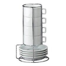 9 Piece Stackable Espresso Coffee Tea Set