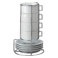 9 Piece Stackable Cappuccino Coffee Tea Set
