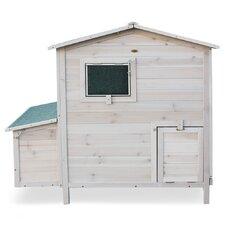 Hühnerhaus Spitzdach mit klappbarem Deckel
