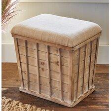 French Wood Storage Stool