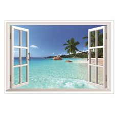 Window to the Beach Wall Decal