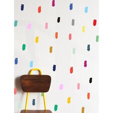 Finger Painted Lines Wall Decal