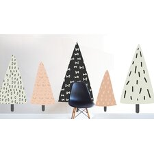 Hand Sketched Trees Wall Decal
