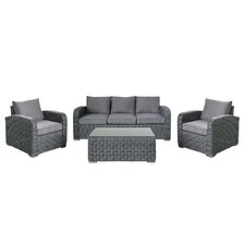 Outdoor Furniture Complete 4 Piece Deep Seating Group