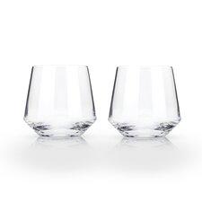 Raye Lead Free Crystal Cocktail 12 Oz. Tumbler (Set of 2)