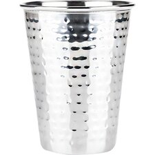 Admiral Hammered Stainless Steel 16 Oz. Pint