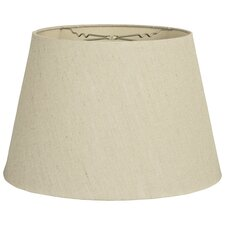 """18"""" Timeless Linen Tapered Shallow Drum Lamp Shade"""