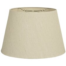 "16"" Timeless Linen Tapered Shallow Drum Lamp Shade"