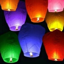 Chinese Sky Fire Flying Lantern (Set of 10)