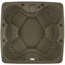 6 Person 19 Stainless Steel Jets Spa Easy Plug-N-Play Spa with LED Waterfall