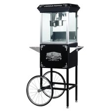 8 Ounce Antique Popcorn Machine with Cart