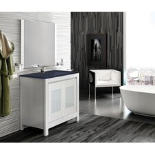 "Versalles 32"" Single Vanity Set with Black Glass Top"