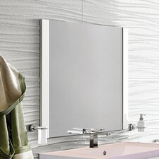 "Versalles 32"" Single Vanity Set with Black Galss Top and Mirror"