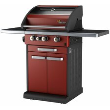 Icon 3 Burner Liquid Propane Gas Grill with Cabinet, Window, Drawer, Timer and Grill Smart Technology