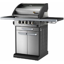 Icon 3 Burner Liquid Propane Gas Grill with Cabinet, Window, Drawer, Timer, Side Burner and Grill Smart Technology