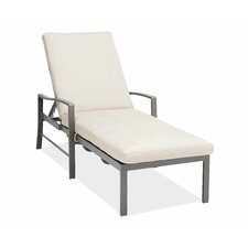 Chevron Chaise Lounge with Cushions