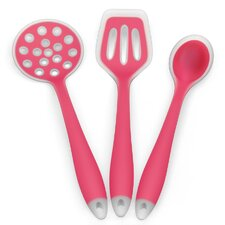 3 Piece Silicone Cooking Utensil Starter Set