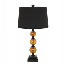 "Amber Glass 29"" Table Lamp"
