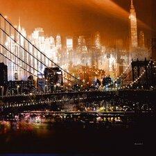"""""""Brooklyn Bridge by Night"""" von Mereditt.f, Fotodruck"""