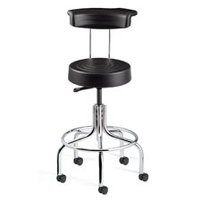 ErgoLux Height Adjustable Stool with Backrest