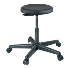 Versa Height Adjustable Backless Stool with Dual-Wheel-Hard Floor Casters