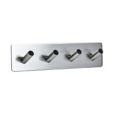Serie A Wall Mounted Stainless Steel 4 Hooks