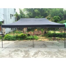 10 Ft. W x 20 Ft. D Canopy with Black Frame