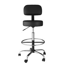 Height Adjustable Medical/Drafting Stool with Back Cushion