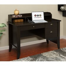 Executive Desk with Hutch and Charger Hub and USB