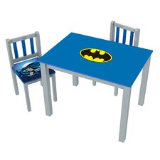 Batman Kids' 3 Piece Rectangle Table and Chair Set