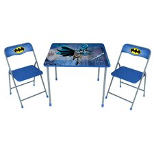 Batman Kids' 3 Piece Square Table and Chair Set