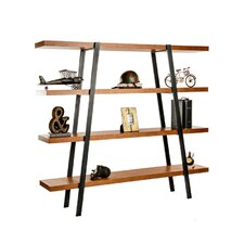 """Industrial Distressed Metal 86"""" Etagere Bookcase"""