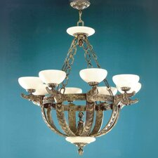 Melilla Eight Light Chandelier in Rustic Bronze