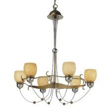 Rimini Six Upward Light Chandelier in Vintage Gold