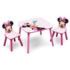 3-tlg. Kinder-Tischset Minnie Maus