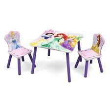 3-tlg. Kinder-Tisch Set Prinzessin