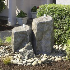 Rock Watershed Double Pondless Glass Fiber Reinforced Concrete Fountain Kit