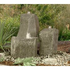 Rock Twisting Creek/Cascade Glass Fiber Reinforced Concrete Triple Pondless Fountain Kit