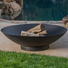 Turren Steel Fire Pit with Spark Screen and Poker