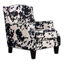 Cow Black Club Chair