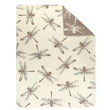 Sorrento Dragonfly Oversized Reversible Throw Blanket