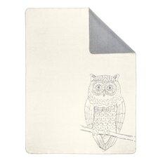Sorrento Owl Soft Oversized Reversible Throw Blanket
