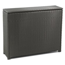 Synthetic Rattan and Steel Storage Box