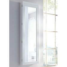 Wall Mounted Jewellery Cabinet with Mirror