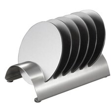 Julian Stainless Steel Round Coaster Set with Holder