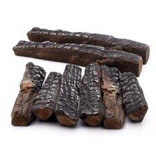 8 Piece Wood-like Ceramic Log Set