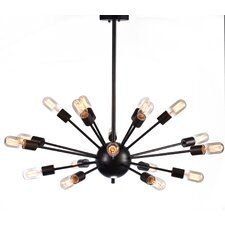 Industrial 18 Light Cluster Pendant
